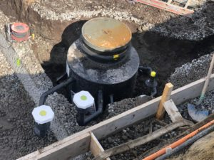Schmutzwasserhebeanlage/ Pumpenschacht